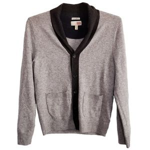 1901 Cashmere and Wool Cardigan Men's Small Gray